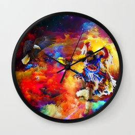 Dance with eagle Wall Clock