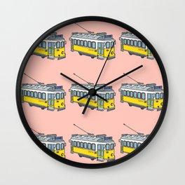 Lisbon Tram Pattern Wall Clock