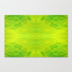 Yellow and Green Stripes Canvas Print