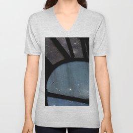 Starry Night - Clock Tower Unisex V-Neck