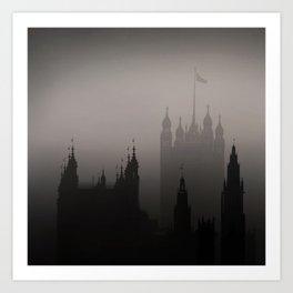 London Silhoueten Art Print