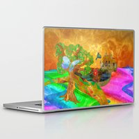 miles davis Laptop & iPad Skins featuring Let color bring you smiles as you walk lifes many miles by Donuts