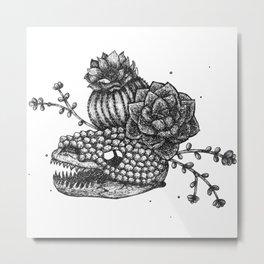 Lizard Anatomy Metal Print