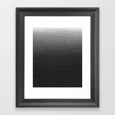 Black and White Ink Gradient  Framed Art Print