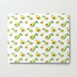 Avocado Pattern Metal Print