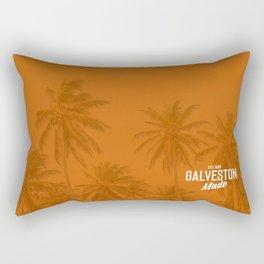 Galveston Island Palm Trees Rectangular Pillow