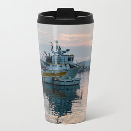 Mediterranean Harbor at Sunset Travel Mug