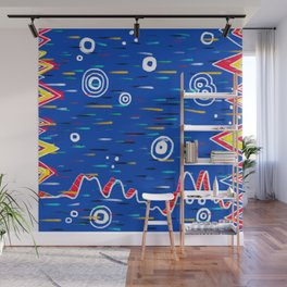 Rain on Lava Wall Mural