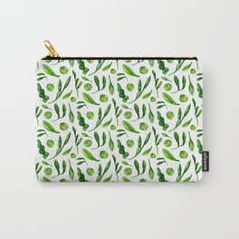 Green leaves pattern Nature watercolor illustration Greenery print Green home decor Gift for her Carry-All Pouch