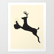Encouraging Deer Art Print