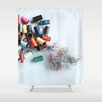 tangled Shower Curtains featuring Tangled by myhideaway