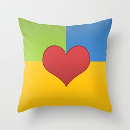 Heart in a Box Throw Pillow