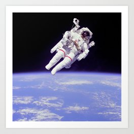 Astronaut on a Spacewalk Art Print