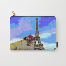 A Pug in Paris Carry-All Pouch