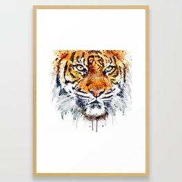 Tiger Face Close-up Framed Art Print