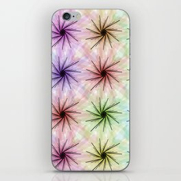 Color floral spiral iPhone Skin
