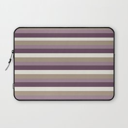 Stripes in Magenta, Lavender and Cream Laptop Sleeve