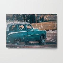 Cuban Cars Metal Print