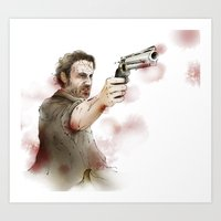 rick grimes Art Prints featuring Rick Grimes by Ira Ischwara