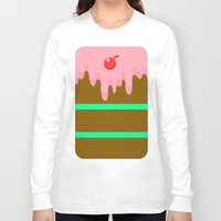 cake Long Sleeve T-shirts featuring Cake by Rejdzy