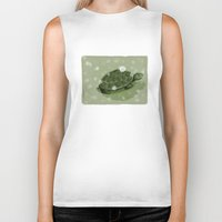 turtle Biker Tanks featuring Turtle by David Owen Breeding