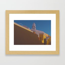 A Village in Santorini Framed Art Print