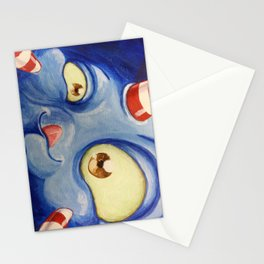 Blue moster Stationery Cards