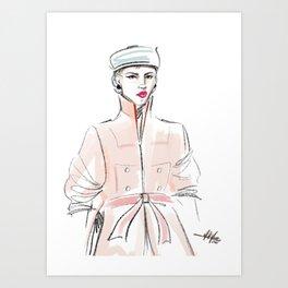 Rosie / Peach Trench Art Print