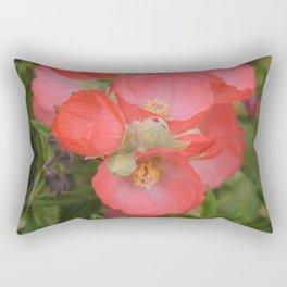 Apricot Mallow Blossoms Rectangular Pillow
