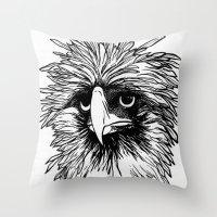 hawk Throw Pillows featuring Hawk  by Art is Vast