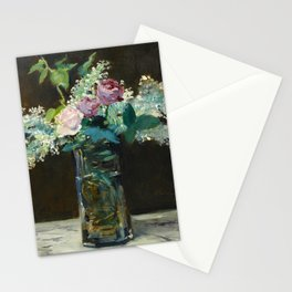"""Édouard Manet """"Vase of White Lilacs and Roses"""" Stationery Cards"""