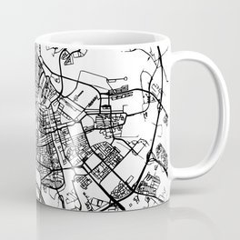 AMSTERDAM NETHERLANDS BLACK CITY STREET MAP ART Coffee Mug