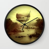 jazzberry Wall Clocks featuring Illusive visions float above my head... by Donuts