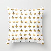 pie Throw Pillows featuring Pie by nicolaporter