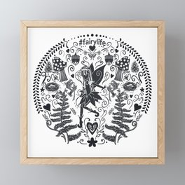 Life of a Fairy: Petalwink Medallion | Black Framed Mini Art Print