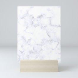 Classic Grey and White Natural Stone Veining Quartz Mini Art Print