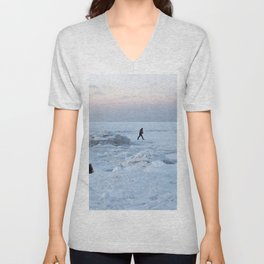 Out on the Ice Unisex V-Neck