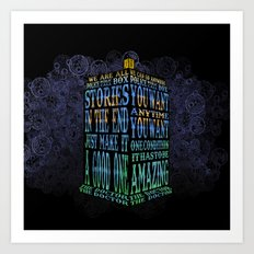 Tardis Doctor who Typography iPhone, ipod, ipad, pillow case and tshirt Art Print