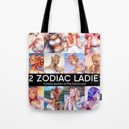 12 Zodiac Ladies Tote Bag