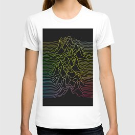 rainbow illustration - sound wave graphic T-shirt