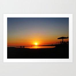 Californian Ocean sunset Art Print