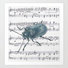 Music Beetle Art Print