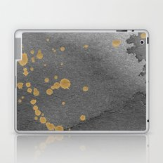 Gray and gold Laptop & iPad Skin