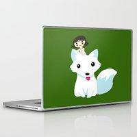 princess mononoke Laptop & iPad Skins featuring Princess Mononoke by Mayying