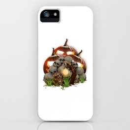 a bunch skull pumpkins Horor Halloween iPhone Case