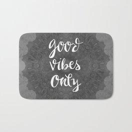 Good Vibe Mandala Gray Bath Mat