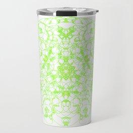 Mandala Trinity green Emerald Peridot Travel Mug