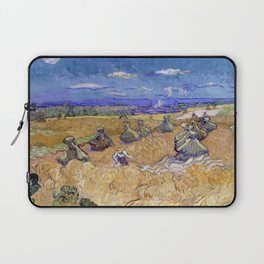 """Vincent van Gogh """"Wheat Stacks with Reaper"""" Laptop Sleeve"""
