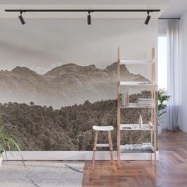 The mountain beyond the forest Wall Mural