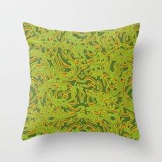 Sixties Swirl Throw Pillow